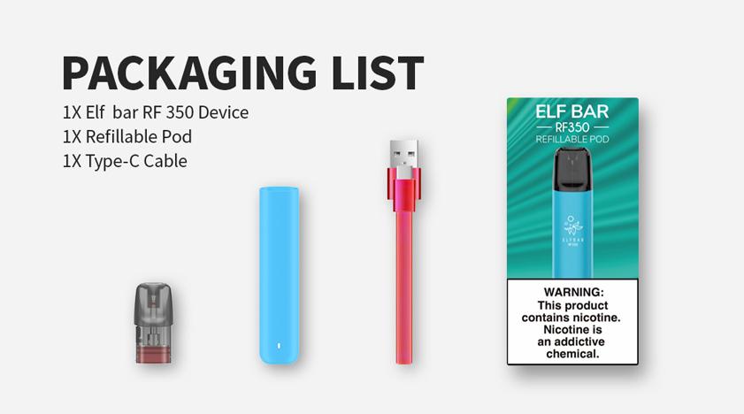 Elf Bar RF350 Refillable Pod Starter Kit Maroc